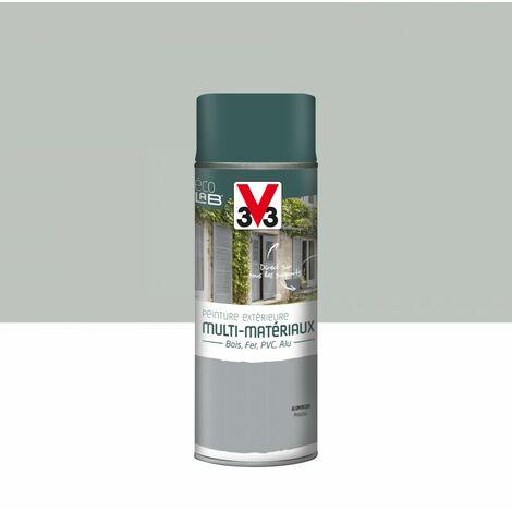 Peinture aérosol Extérieur multi-matériaux V33, aluminium métallisé satiné, 0.4l