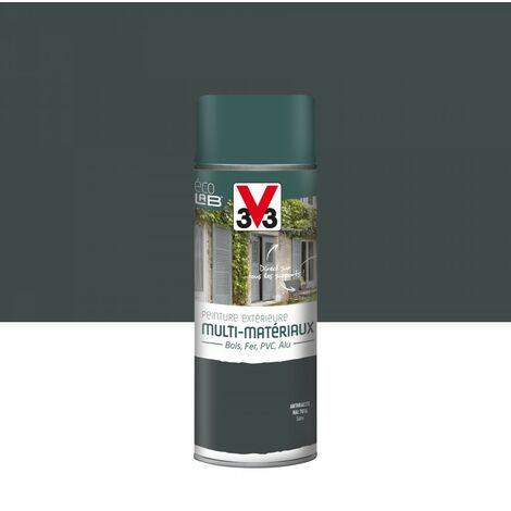 Peinture aérosol Extérieur multi-matériaux V33, anthracite satiné, 0.4 l