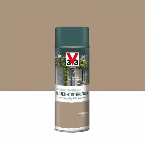 Peinture aérosol Extérieur multi-matériaux V33, beige argile satiné, 0.4 l