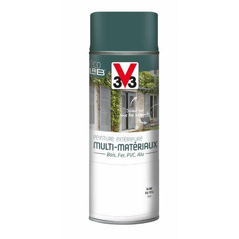 Peinture aérosol Extérieur multi-matériaux V33, blanc satiné, 0.4 l