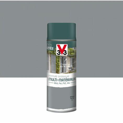 Peinture aérosol Extérieur multi-matériaux V33, gris galet satiné, 0.4 l