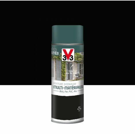 Peinture aérosol Extérieur multi-matériaux V33, noir satiné, 0.4 l