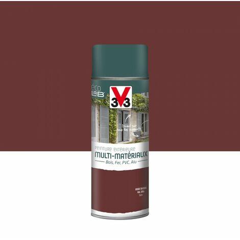 Peinture aérosol Extérieur multi-matériaux V33, rouge basque satiné, 0.4 l