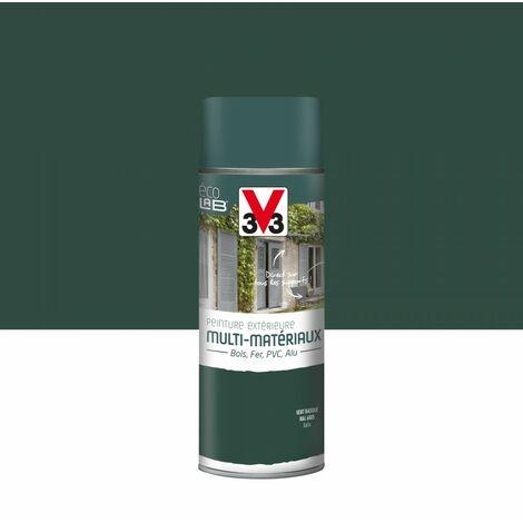 Peinture aérosol Extérieur multi-matériaux V33, vert basque satiné, 0.4 l