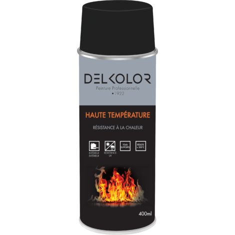 Peinture aérosol Haute température Noir 400ml | Couleur: Noir