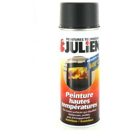 Peinture aérosol Julien hautes températures noir 400ml
