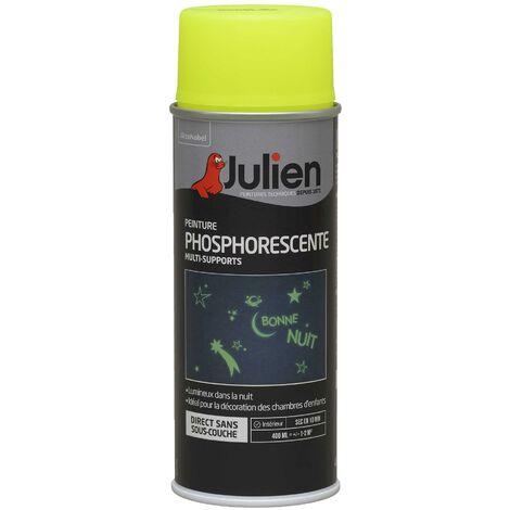 "main image of ""Peinture aérosol Phosphorescente - multi-supports - Jaune - 400 ml - Julien"""