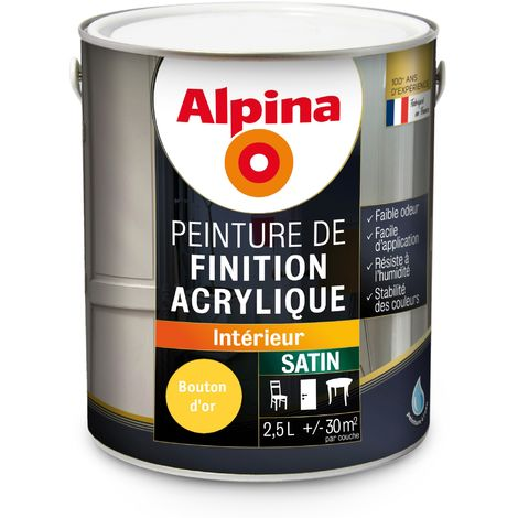 Peinture Alpina Acrylique 2,5L Satin
