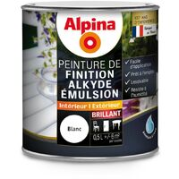 Peinture Alpina Alkyde émulsion 0,5L Brillant