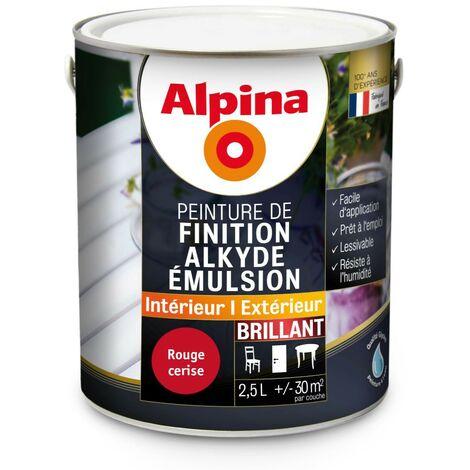 Peinture Alpina Alkyde Emulsion 2 5l Brillant Finition