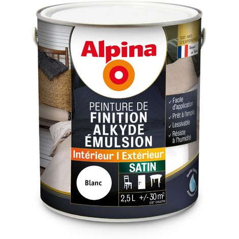 Peinture Alpina Alkyde émulsion 2,5L Satin