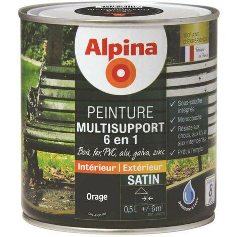 Peinture Alpina Multisupport 6 en 1 Satin 0,5L