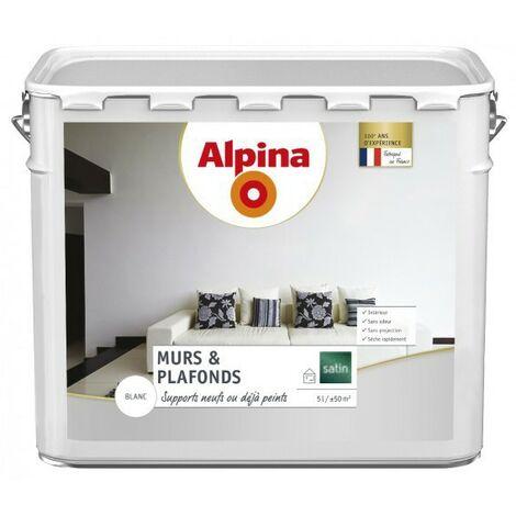 Peinture Alpina murs & plafonds Blanc satin
