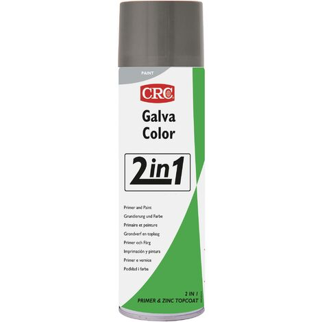 Peinture anti-corrosion GALVACOLOR avec double effet gris clair RAL 7035 CRC GALVACOLOR 32080-AA 500 ml S229521