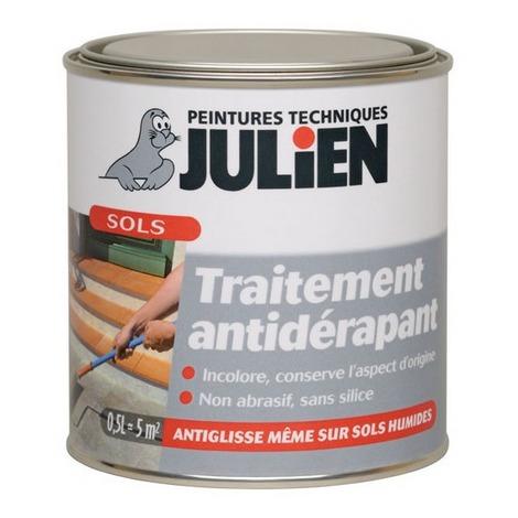 Peinture antidérapante incolore 0,5 litre JULIEN-D554329