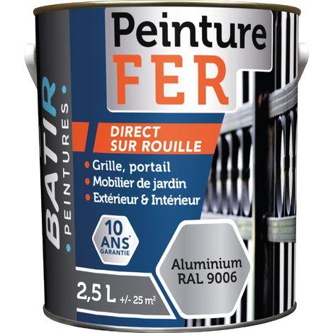 Peinture antirouille Batir fer - Aspect forgée - Boîte 2,5 l - Aluminium