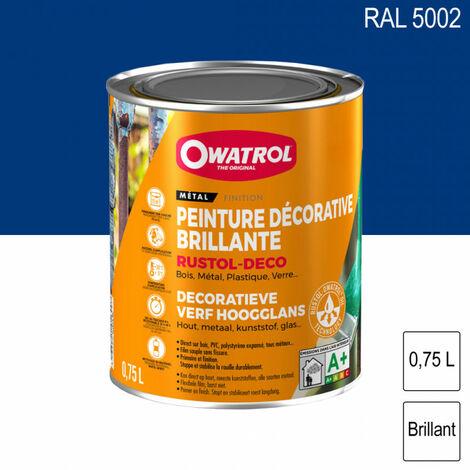 Peinture antirouille décorative 0,75L brillante multi supports Rustol Deco OWATROL - plusieurs modèles disponibles