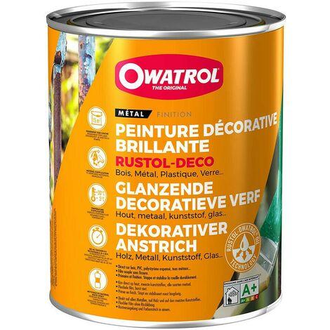 Peinture antirouille Rustol Deco 0,75L | Couleur: Terre brune RAL 8028