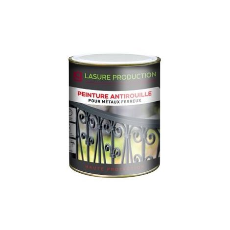 Peinture AntirouilleRouge Basque - Bidon de 1 l - Rouge Basque