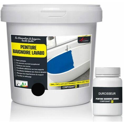 PEINTURE BAIGNOIRE LAVABO - résine époxy Forte Adhérence pour rénovation de baignoire, lavabo salle de bain