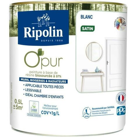 Peinture � base de r�sine biosourc�e, Satin, Ripolin