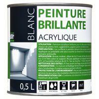 Peinture batir 1er acrylique blanc brillant