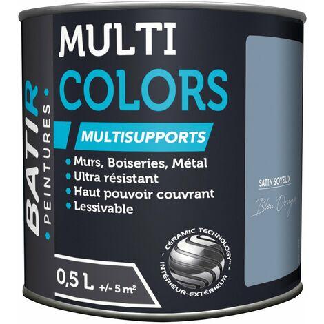 "main image of ""Peinture Batir Multi-Supports Satin Soyeux 0,5 L bleu orage"""