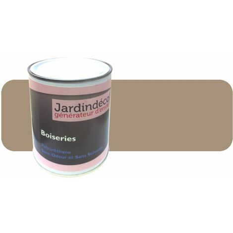 Peinture beige pour meuble en bois brut 1 litre Blanc perlé