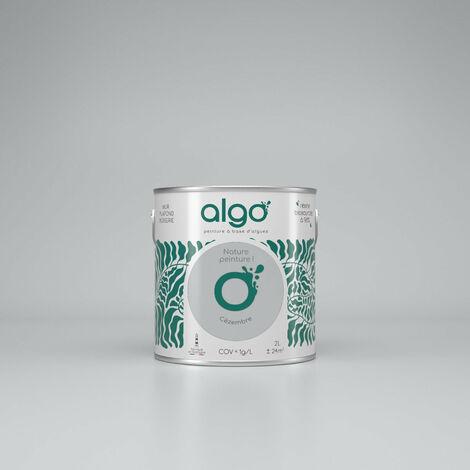 Peinture Biosourcée Décorative Algo Grise Finition Satin 2L (Cezembre)