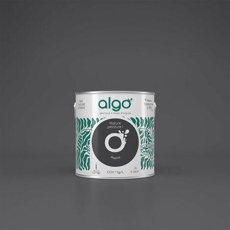 Peinture Biosourcée Décorative Algo Noire Finition Satin 2L (Piana)