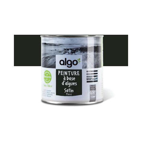 Peinture Biosourcée Décorative Algo Noire Finition Satin (Piana)