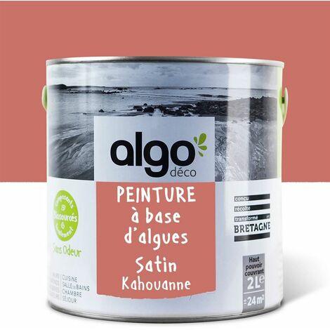Peinture Biosourcée Décorative Algo Orange Finition Satin 2L (Kahouanne)