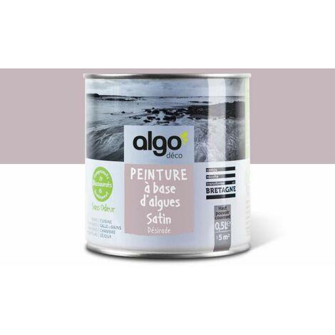 Peinture Biosourcée Décorative Algo Rose Finition Satin 0,5L (Désirade)