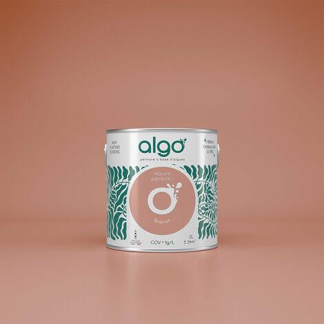 Peinture Biosourcée Décorative Algo Rose Finition Satin 2L (Bréhat)