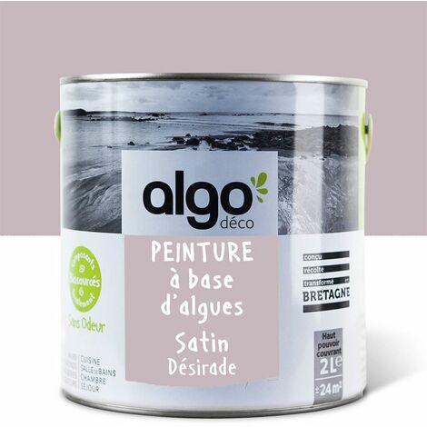 Peinture Biosourcée Décorative Algo Rose Finition Satin 2L (Désirade)