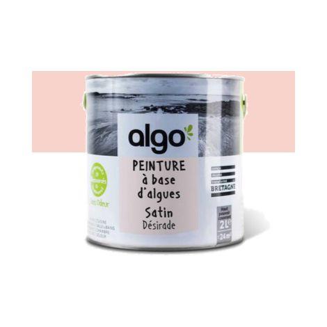 Peinture Biosourcée Décorative Algo Rose Finition Satin (Désirade)