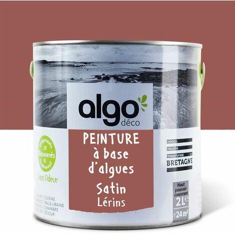 Peinture Biosourcée Décorative Algo Rouge Finition Satin 2L (Lerins)