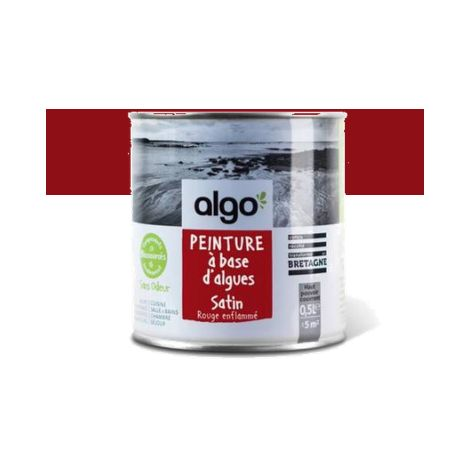Peinture Biosourcée Décorative Algo Rouge Finition Satin (Rouge Enflammé)