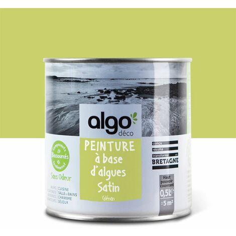 Peinture Biosourcée Décorative Algo Verte Finition Satin 0,5L (Glénan)