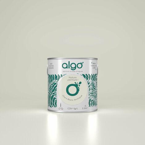 Peinture Biosourcée Décorative Blanche Algo Finition Satin 0,5L (Blanc Actuel)