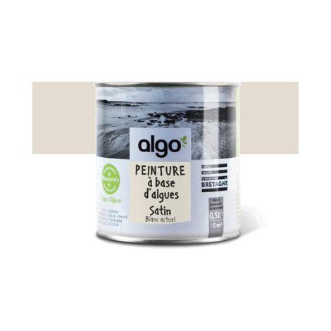 Peinture Biosourcée Décorative Blanche Algo Finition Satin (Blanc Actuel)