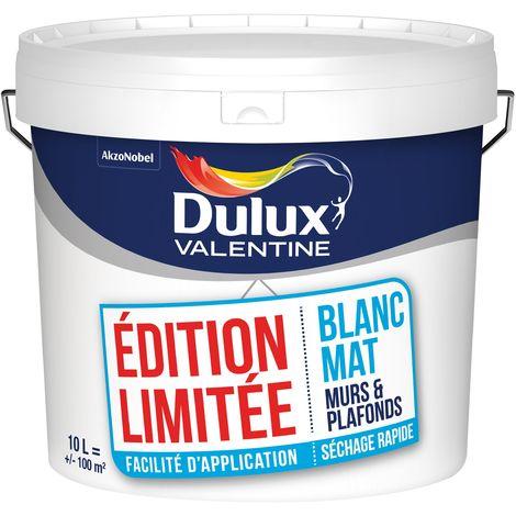 Peinture Blanche Bicouche Edition Limitée 10L - Murs & Plafonds - Dulux Valentine