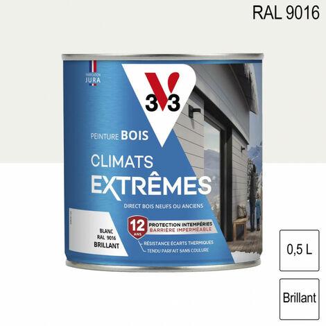 Peinture bois brillant climat extrême 0,5L - plusieurs modèles disponibles