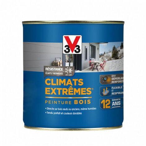 Peinture bois Climat Extrême Satin 0,5L (teinte au choix) V33 - Ton: Bleu bretagne