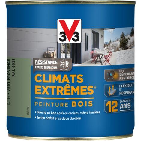 Peinture bois Climat Extrême Satin 0,5L (teinte au choix) V33 - Ton: Vert provence