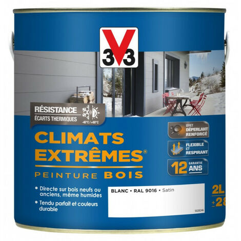 Peinture Bois Climats Extrêmes 2 L Climats Extremes V33 - plusieurs modèles disponibles