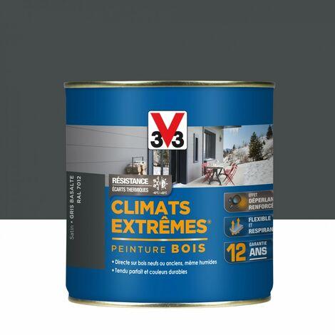 Peinture bois extérieur Climats extrêmes® V33, gris basalte satiné 0.5 l