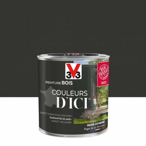 Peinture bois extérieur Couleurs d'ici® V33, noir ombré velours 0.5 l