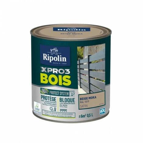 Peinture bois satin 0,5L tri active X pro RIPOLIN - plusieurs modèles disponibles
