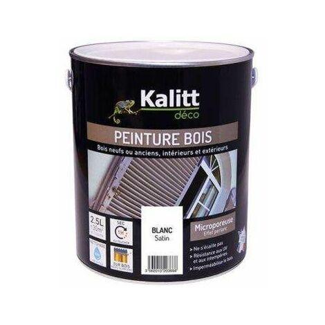 Peinture bois satin blanc 2.5L - KALITT